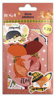 LOT DE 20 GROS STICKERS FOXY