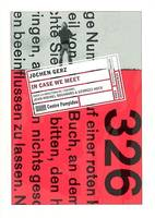 JOCHEN GERZ - IN CASE WE MEET (15*21) EDITION FRAN/ANGL.