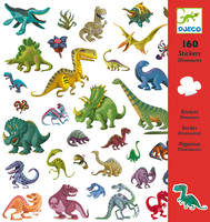 160 stickers dinosaures