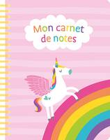 Mon carnet de notes (unicorn pink)