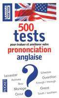 500 tests de prononciation anglaise, Livre