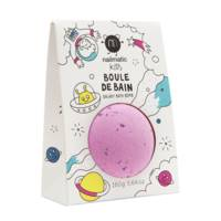 Boule de bain points violet rose