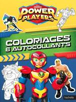 Power Players- Coloriages et Autocollants