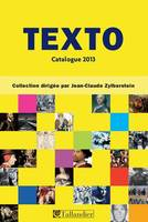 CATALOGUE TEXTO 2013