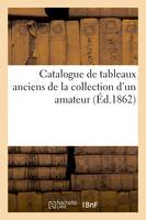 Catalogue de tableaux anciens de la collection d'un amateur