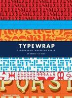 Type Wrap: 10 Sheets of Wrapping Paper with 12 Gift Tags