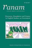 RANAM n° 50/2017, Discourse, Boundaries and Genres in English Studies: an Assessment