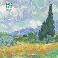 JIGSAW PUZZLE VINCENT VAN GOGH: WHEATFIELD WITH CYPRESS : 1000-PIECE