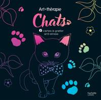 Chats, 6 cartes à gratter anti-stress