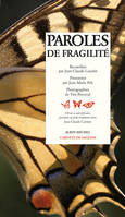 Paroles de fragilité