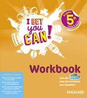I bet you can ! anglais 5e, cycle 4, A1-A2 / workbook : nouveau programme