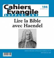 CAHIER EVANGILE - NUMERO 194 - SUPPLEMENT -