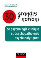 30 grandes notions de psychologie clinique et psychopathologie psychanalytiques